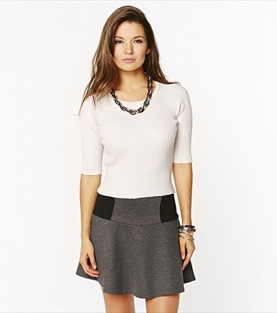This light ribbed cropped sweater is a Spring easy go-to.