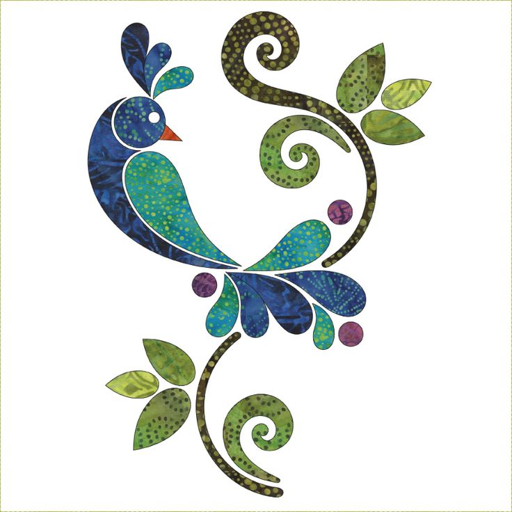 pájaro y rama. ornamental