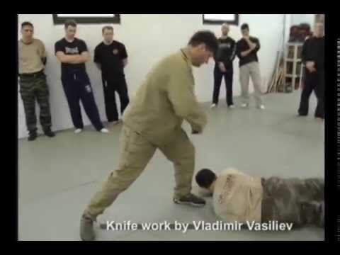 Russian Martial Art Systema knife work by Vladimir Vasiliev.