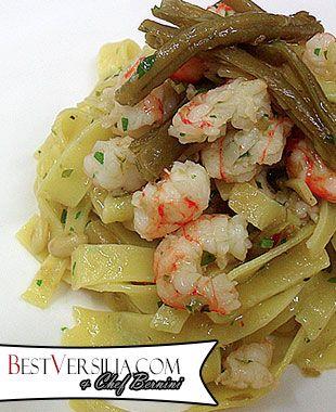 Tagliatelle con gamberi e fagiolini: un omaggio alla bella stagione!  #Cucina #ricette