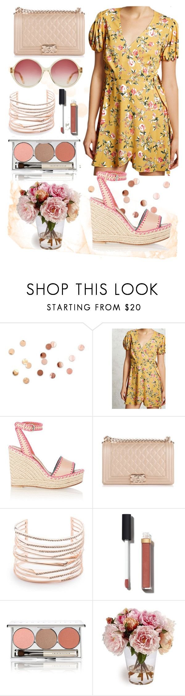 """""""summer outfit"""" by aletraghetti on Polyvore featuring moda, Umbra, Forever 21, Valentino, Chanel, Alexis Bittar, Chantecaille, Summer y floral"""
