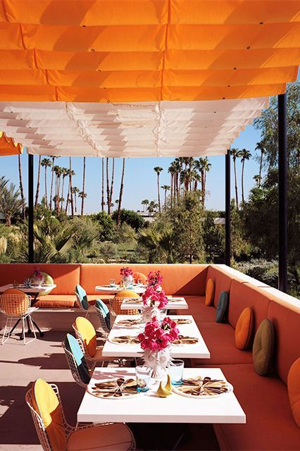 http://www.refinery29.com/palm-springs-weekend-trip-ideas#slide-9  Norma's at The Parker Palm Springs, 4200 East Palm Canyon Drive (near Cherokee Way); 760-321-4630.