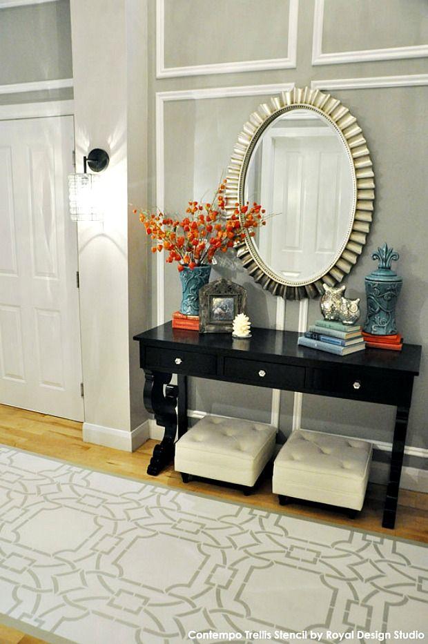 Diy Painted Stencil Bathroom Floor: 224 Best Ideas About Stencil Ideas On Pinterest