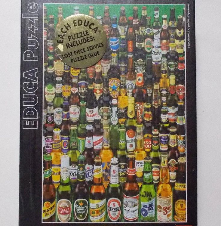 Educa Puzzle International Beer Bottles 1000 Piece Miniature 2008 #Educa