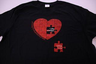 Ania mama Agnieszki: Koszulka z sercem