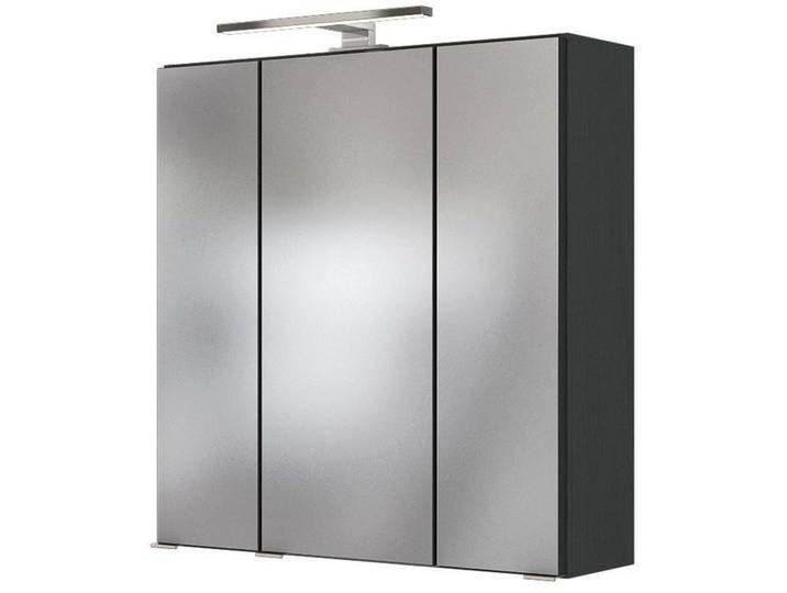 Zurbruggen Spiegelschrank Genua Grau Holznachbildung Spiegelschrank Led Aufbauleuchte Badezimmer Spiegelschrank