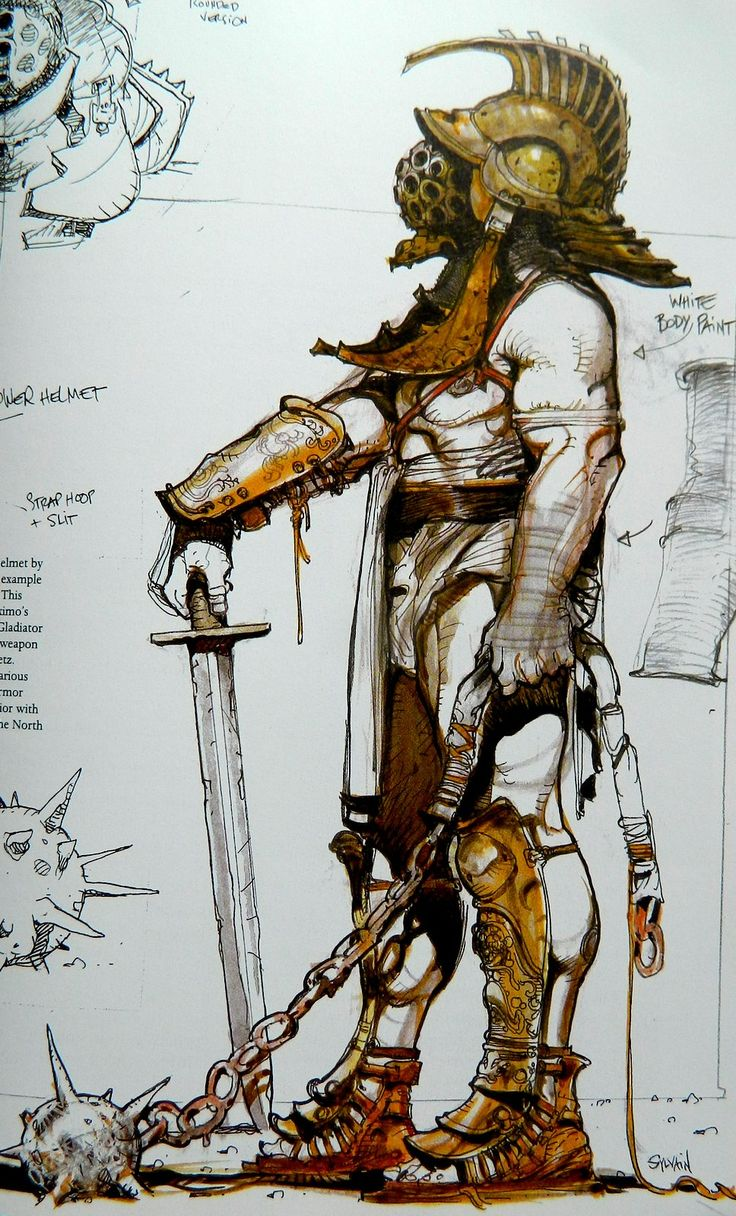 The Art Of Character Design Volume I : Quot gladiator movie concept drawings art pinterest