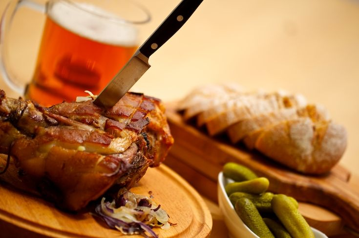 8. Pig knee with horse-radish, don´t be afraid and use your hands to eat it up!