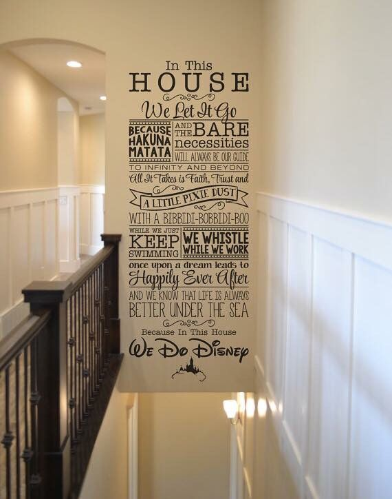 disney office decor. in this house disney wall lettering sticker decal home decor walt we do office e