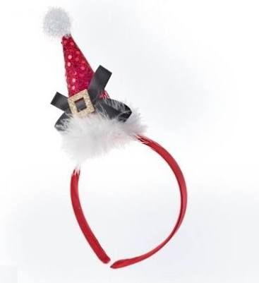Resultado de imagen para como hacer diademas navideñas