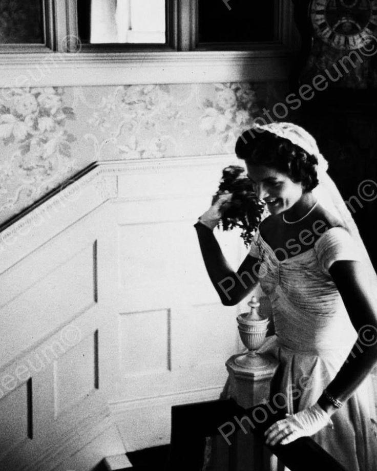 Jacqueline Kennedy Wedding Photo Vintage 8x10 Reprint Of Old Photo