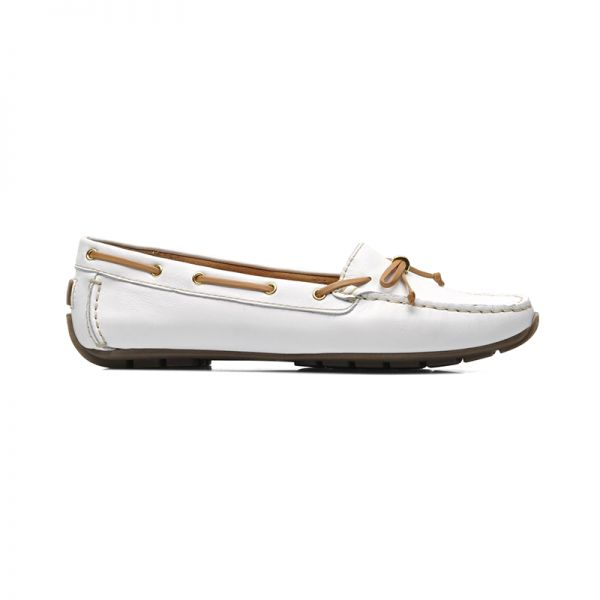 Dunbar Groove by #Clarks ΙΙΙ #Driver White leather xigoros.com
