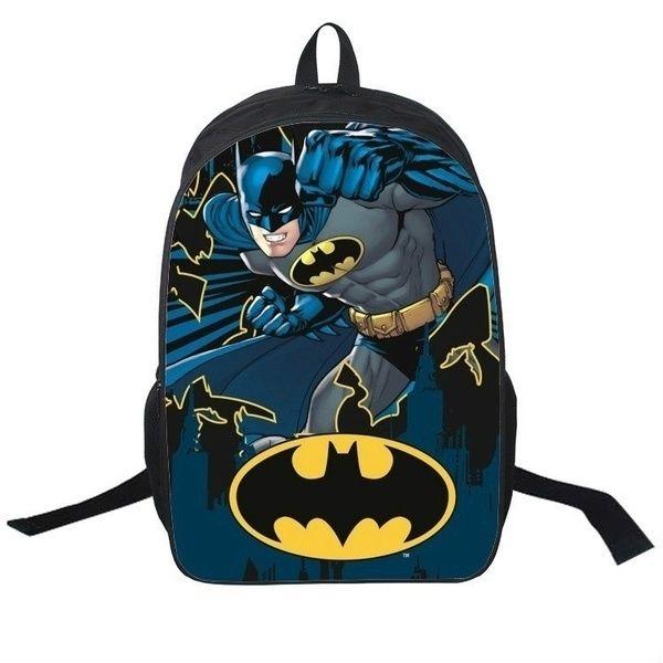 Batman Students Backpack Anime Cartoon Bag | School bags for
