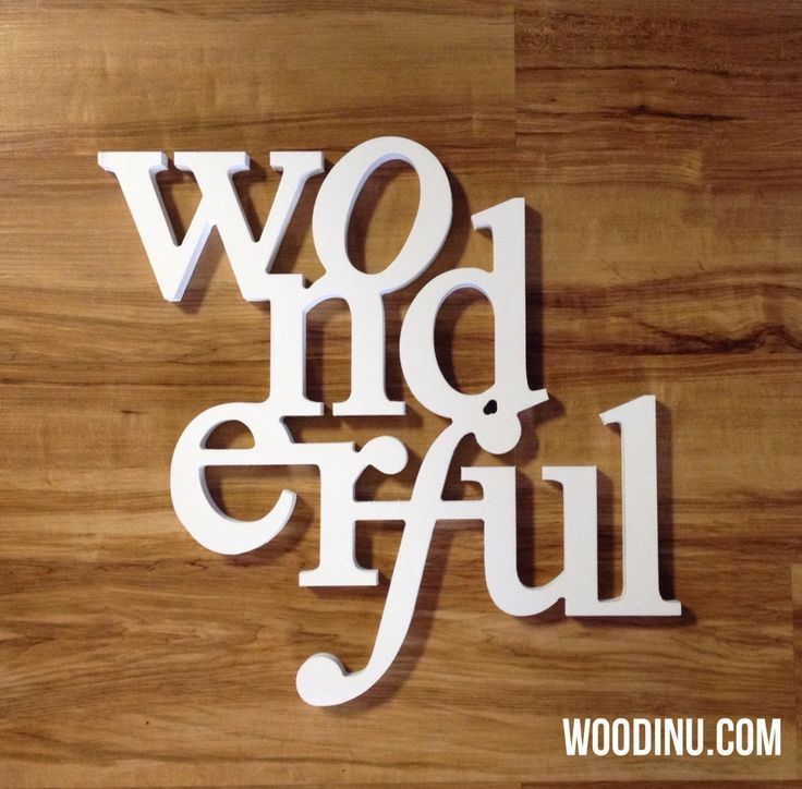 Wooden Word Sign Word Wood Home Decor Wall Hanging Decoration Word