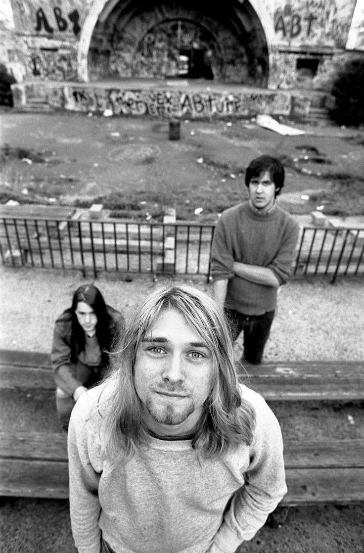 EXHIBITION: EXPERIENCING NIRVANA at Proud Camden, London, UK --- This exhibition, by photographers Charles Peterson and Steve Double, reveals a rare and intriguing insight into one of the most influential and important rock bands of the modern era, marking the 20th anniversary of Kurt Cobain's untimely death. ----- PHOTO: © Steve Double, Apr. 26, 1990, Nirvana in New York City
