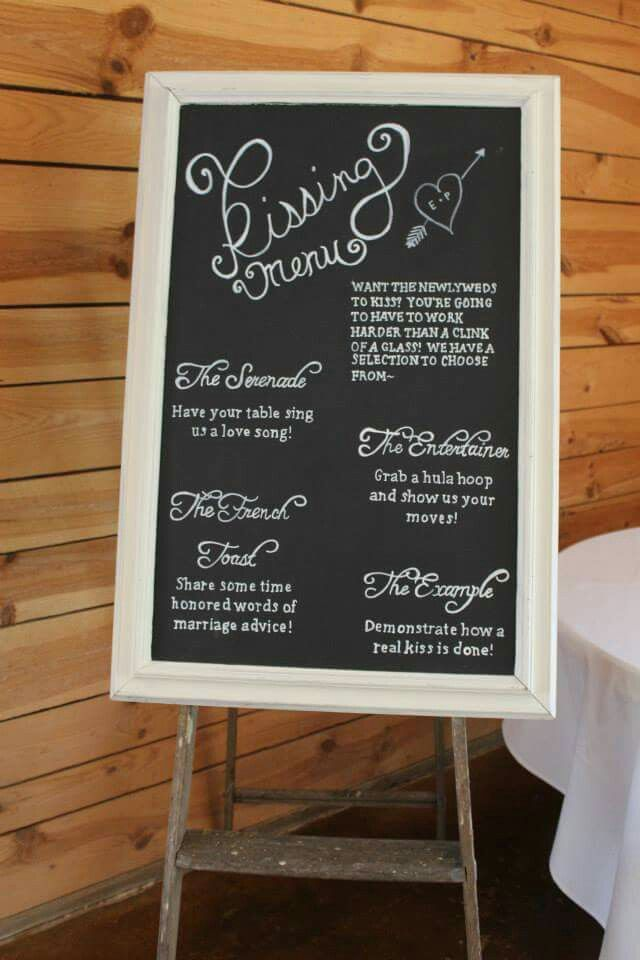 Kissing menu