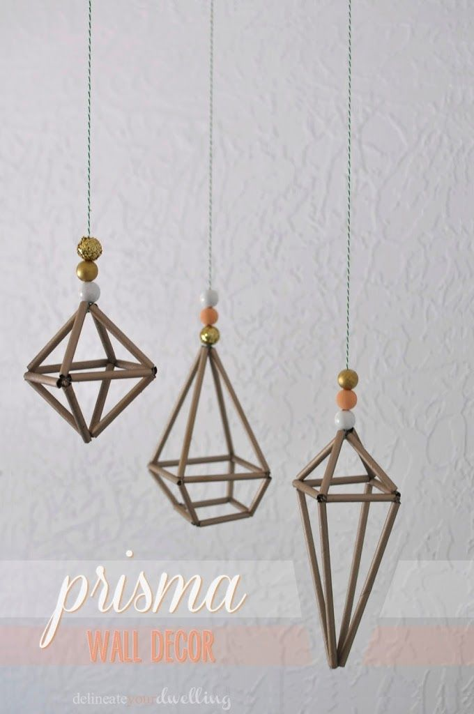 Prisma Wall Decor : Urban Outfitters, Delineate Your Dwelling #hemmeli #sculpture #gold ヒンメリ ストローモービル