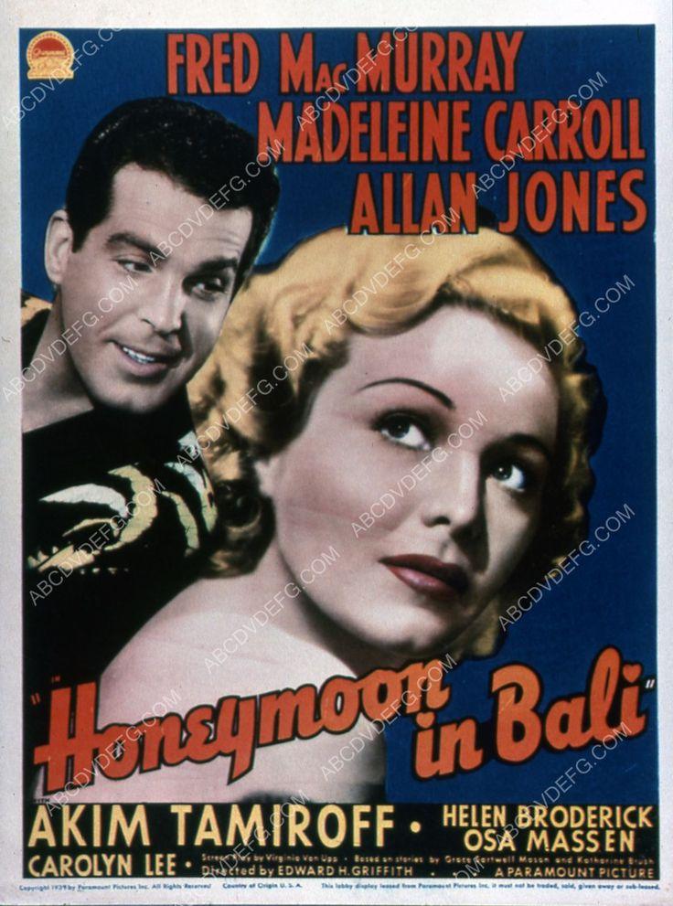 Fred MacMurray Madeleine Carroll film Honeymoon in Bali 35m-1981