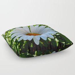 Single White Daisy Floor Pillow