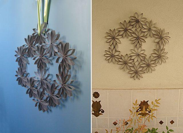 Toilet Paper Tube Wreath