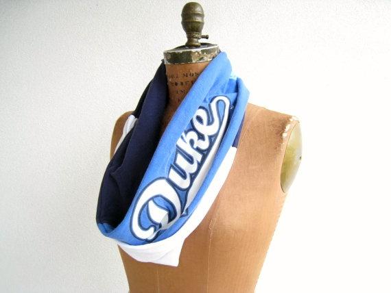 Duke Blue Devils T Shirt Infinity Scarf / Navy Royal Blue by ohzie