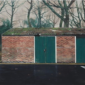 george shaw - depressing england, paintings