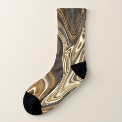 Gorgeous Marble Style - Warm brown Socks - marble gifts style stylish nature unique personalize