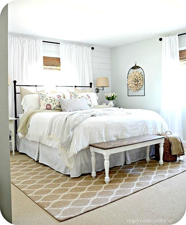 Wooooohoooo!!!! It is DONE, people. And we are thrilled! Been a long time coming, but finally I can tell you, our master bedroom makeover is complete and you can't see me, but I'm totally doing a h...