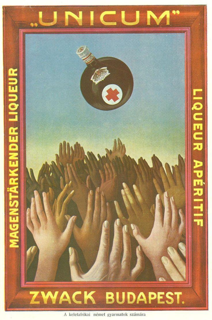 A Zwack Likőrgyár kelet-afrikai német gyarmatok számára készített Unicum-reklámlapja  1907