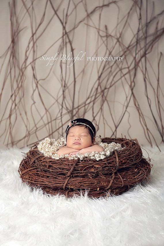 Crochet newborn posing prop baby photography prop by babiesbyhand
