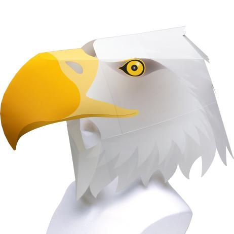This papercraft is a life size Eagle Helmet, designed by Chappy Okamoto for Canon Papercraft. You can download this papercraft template here: Canon Papercr