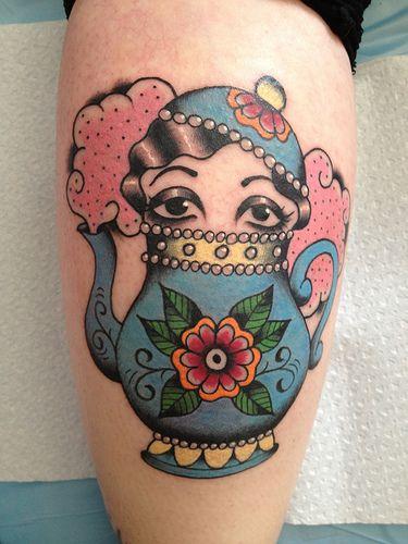 neo tradicional tattoo