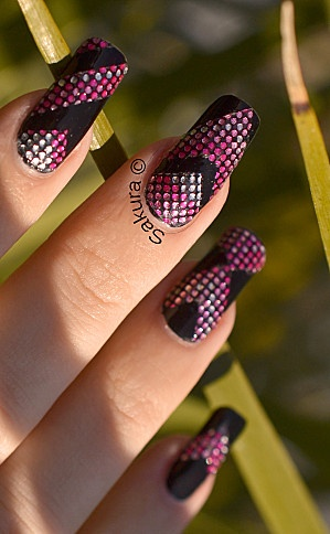 NAIL ART BLING AZTEQUE 10