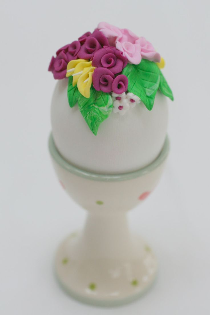 Easter Tree Ornament, Egg Decorations, Easter Decorations, Spring Decorations, Spring, Flower Ornament, Flower Bouquet, Purple Decorations by EggOnTop on Etsy