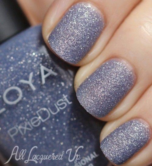 Zoya NYX PixieDust sand texture nail polish swatch