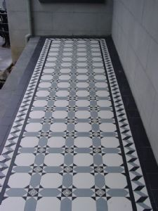 Regeneration Tiles - Ceramic Printed Borders, Ceramic Embossed Border, Glass Tiles, Tessellated tile
