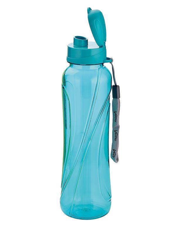 Niebieski bidon plastikowy o pojemności 630 ml