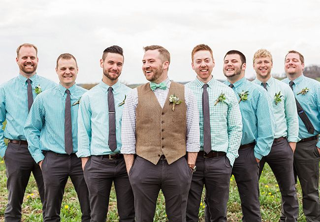 bright casual groomsmen attire |  Lauren Fair Photography | Blog.theknot.com