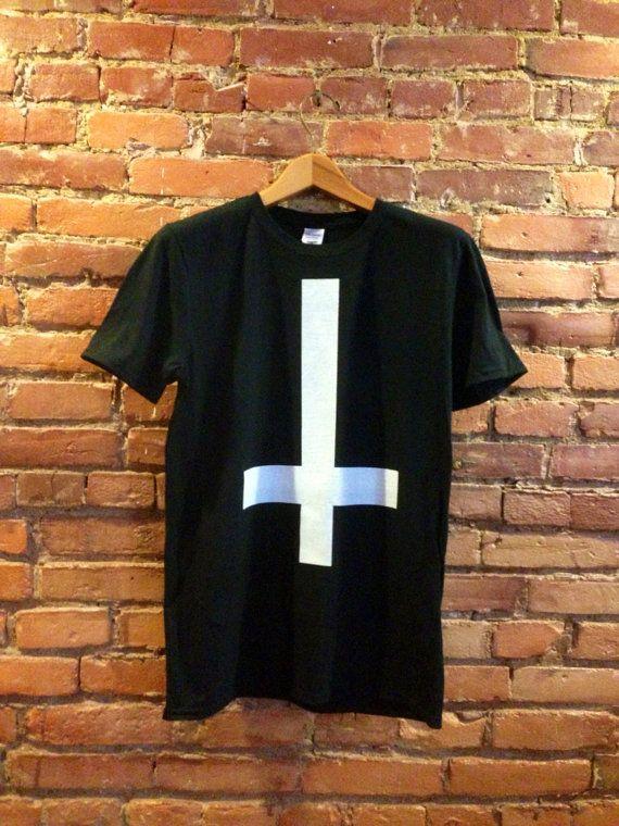 Upside Down Cross Shirt | Fashion Cross Tshirt | Fashionista Clothing