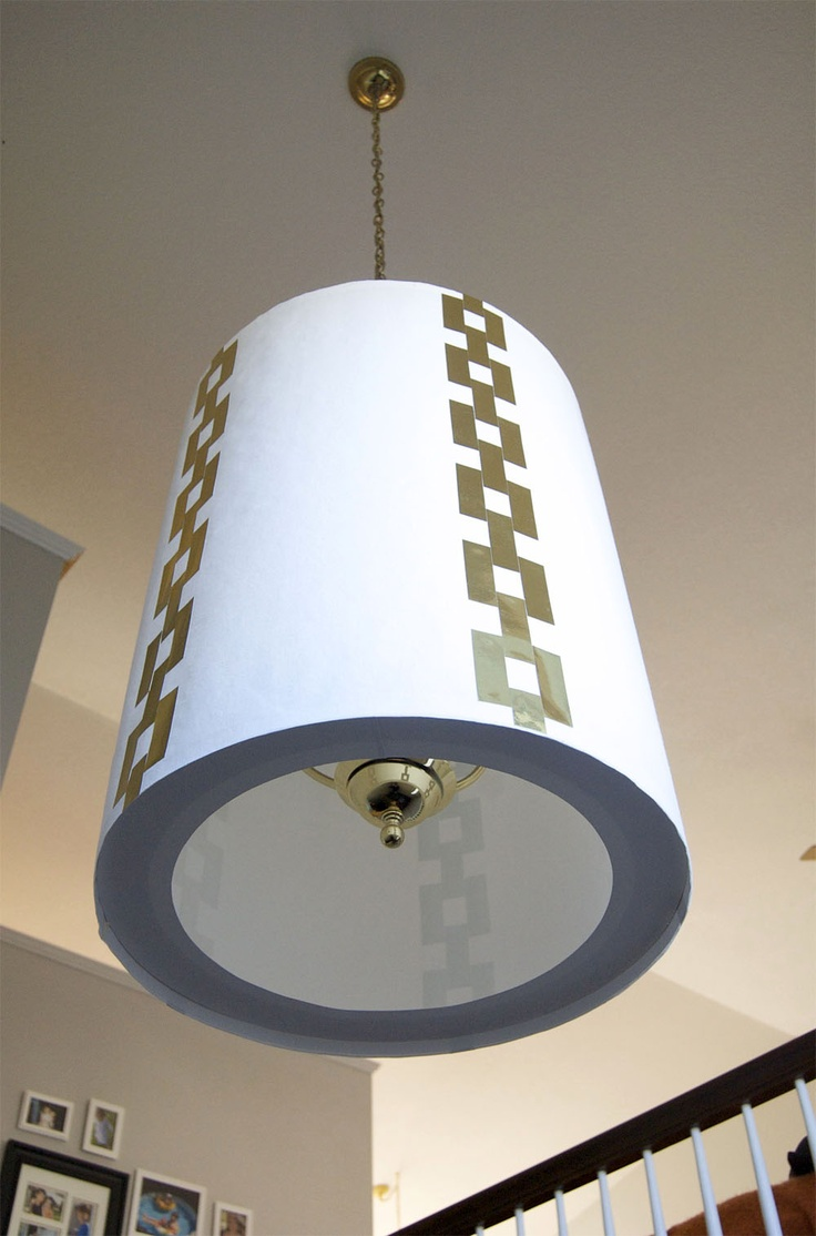 How to make a lampshade big enough to cover an ugly for How to make a chandelier out of a lamp shade