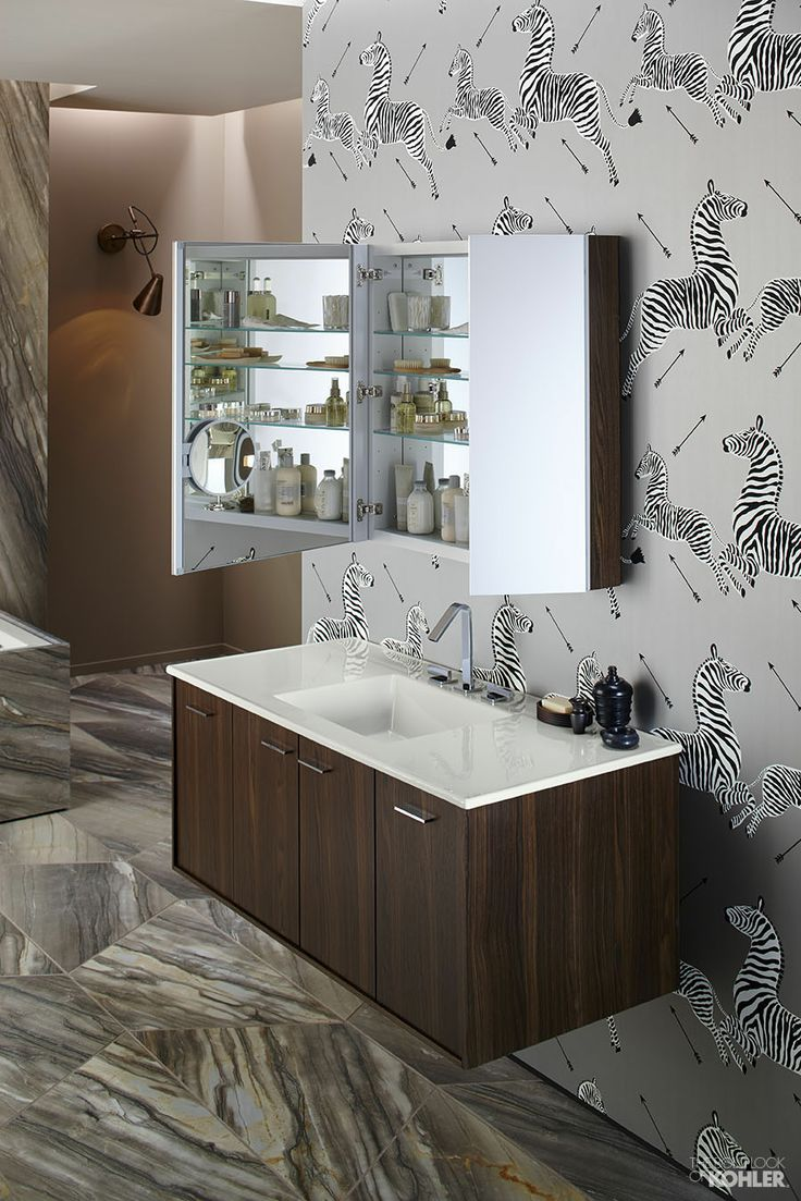 perfect bathroom organization featuring kohler verdera medicine cabinet and jute vanity find this and much - Bathroom Accessories Kohler