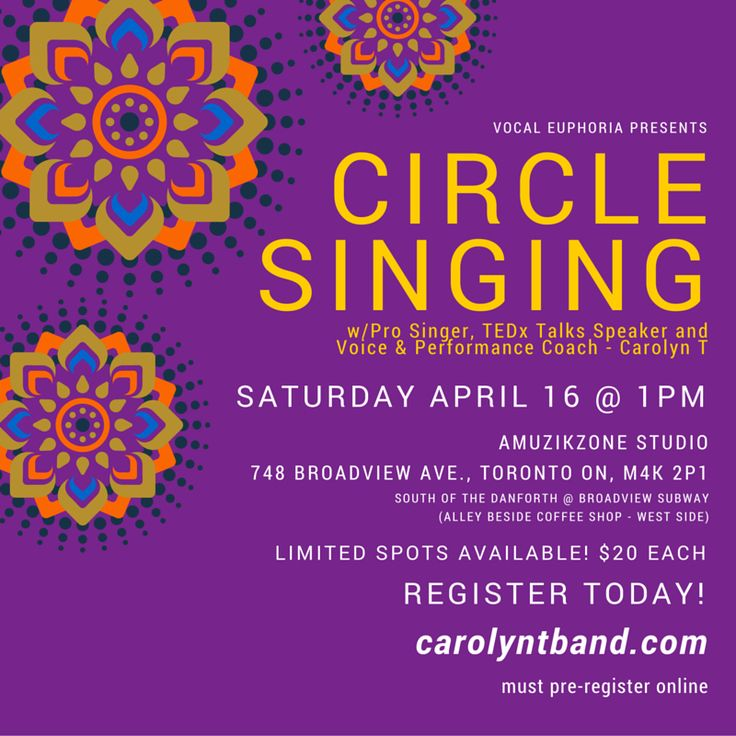Circle Singing http://www.carolyntband.com/circle-singing/