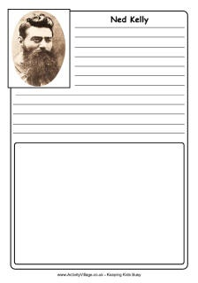 Ned Kelly notebooking pages