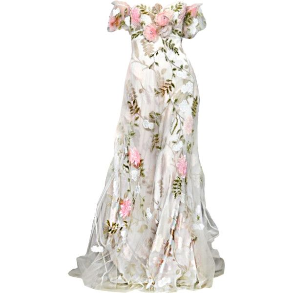 edited by Satinee - Zuhair Murad ❤ liked on Polyvore featuring dresses, gowns, long dresses, vestidos, murad dresses, white gown, white dress and white evening gowns