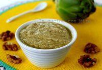 Il pesto di gambi di carciofi è pronto. Buon Appetito! lo potrete gustare sia sulla pasta che sui crostini o come salsa di accompagno per carne arrosto.