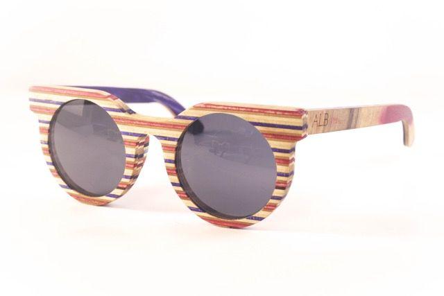 Atelier La Bûche - Paire n°2 #skatesunglasses #Wood #Sunglasses #Bois #lunettes #design #Nantes