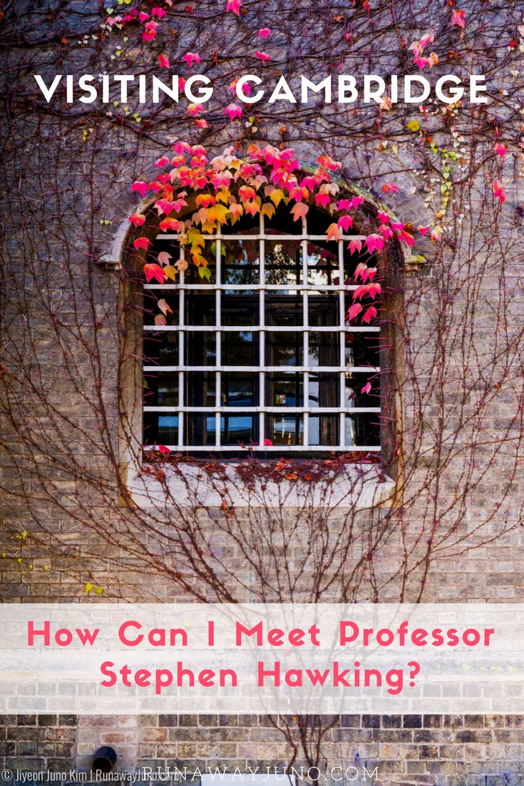 I visited England for the first time, which means I had to visit Cambridge! Many of my inspirational figures studied there, including Prof. Stephen Hawking. via @runawayjuno