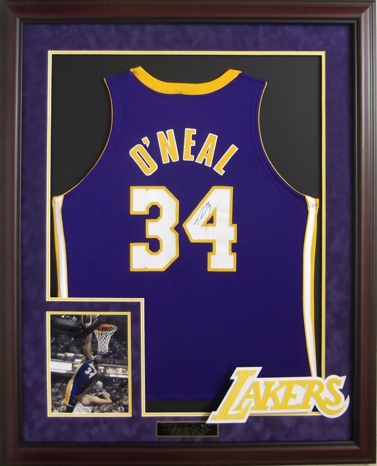 Shaq O'Neal signed Lakers jersey framed #Shaq #Lakers #NBA #framedjersey