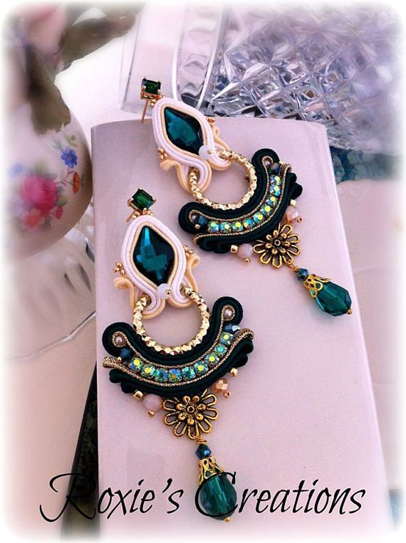 Soutache Earrings Handmade Earrings Soutache Jewelry http://oopsinspired.com/