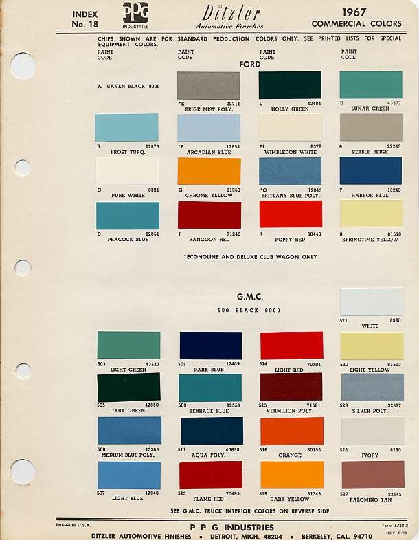 Image Result For 1967 Colors Paint Code Gmc Truck Gmc